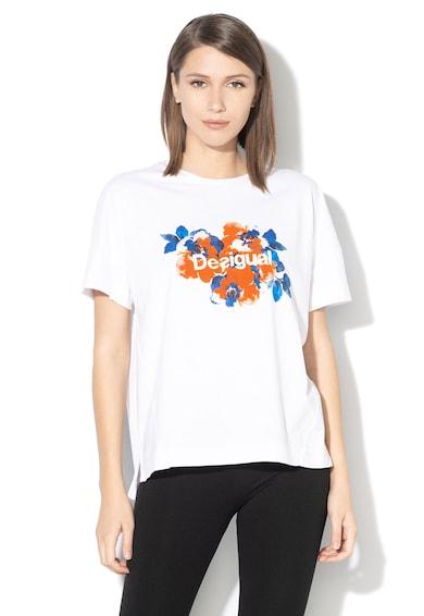 DESIGUAL Tricou cu model camuflaj, pentru fitness Femei