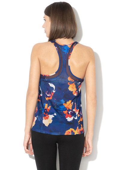 DESIGUAL Top cu spate decupat si insertii de plasa, pentru fitness Femei