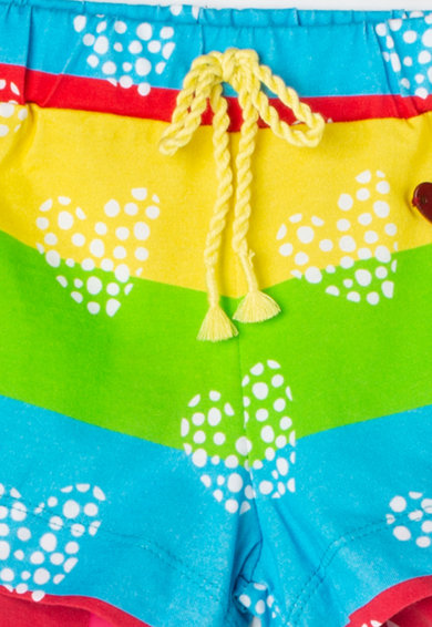 Agatha Ruiz de la Prada Pantaloni scurti cu model colorblock Rainbow Fete