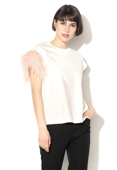 Sportmax Code Bluza din amestec de modal, cu pene decorative Bernini Femei