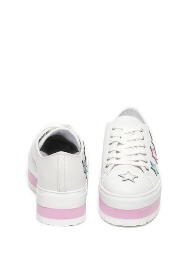 Trussardi Pantofi sport flatform de piele ecologica cu garnituri stralucitoare Femei