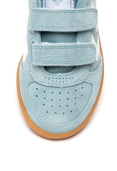 Hummel Pantofi sport de piele intoarsa cu insertii de piele ecologica Victory Fete