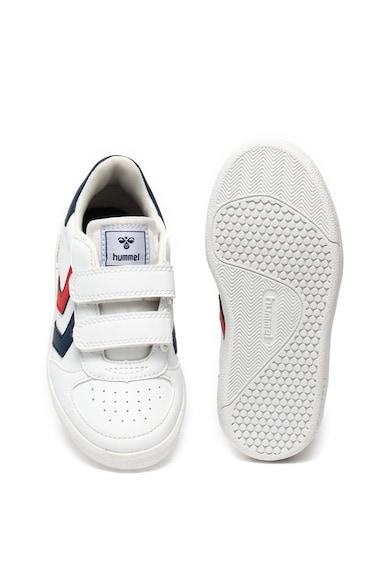 Hummel Pantofi sport de piele ecologica cu velcro Victory Baieti