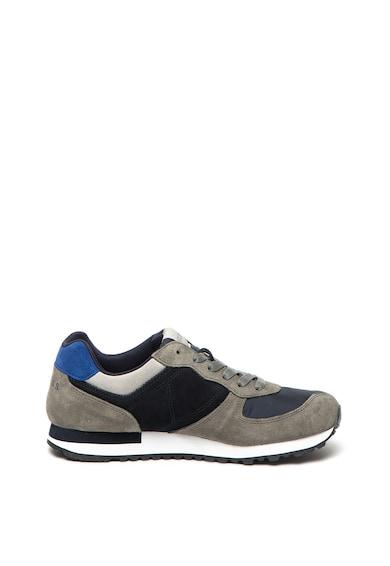 Guess Pantofi sport de piele intoarsa si material textil Barbati