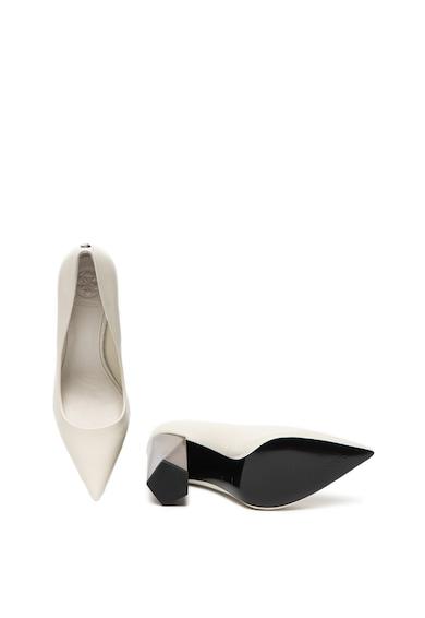 Guess Pantofi de piele cu toc masiv Femei