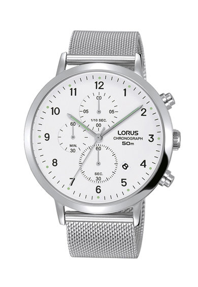 Lorus Ceas cronograf cu bratara metalica cu aspect de plasa Femei