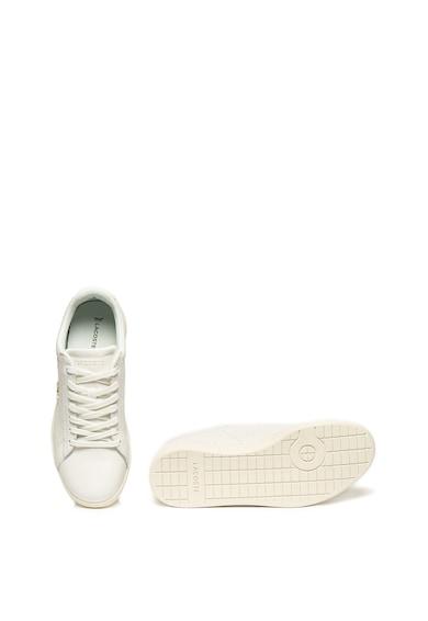 Lacoste Carnaby bőr sneaker szövött hatású megjelenéssel és OrthoLite® technológiával női