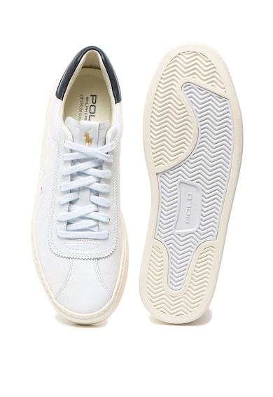 Polo Ralph Lauren Pantofi sport de piele si panza cu Rlite Court Barbati