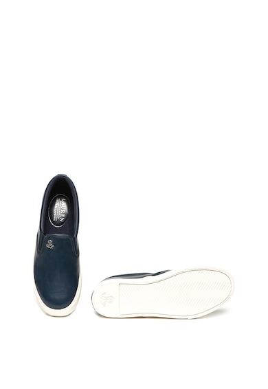 Lauren Ralph Lauren Pantofi slip-on de piele si material textil Camilo Femei