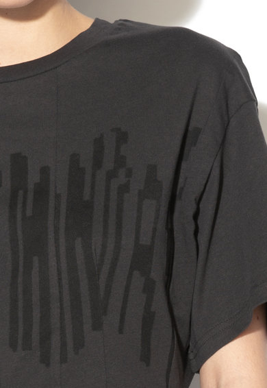 Cheap Monday Rochie evazata din bumbac cu imprimeu logo distorsionat Femei