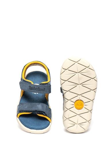 Timberland Sandale cu velcro si garnituri de piele nabuc Nubble Fete