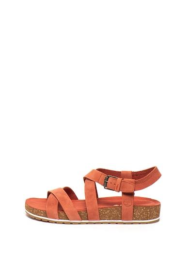 Timberland Sandale de piele intoarsa, cu bareta pe glezna Malibu Waves Femei