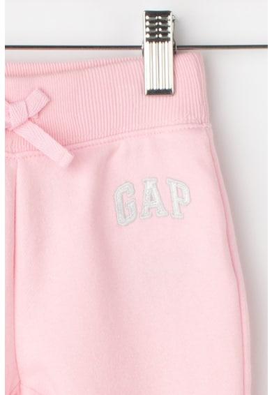 GAP Pantaloni sport cu captuseala de fleece si broderie logo Fete