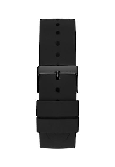 Guess Овален часовник с фигурален детайл на циферблата Мъже
