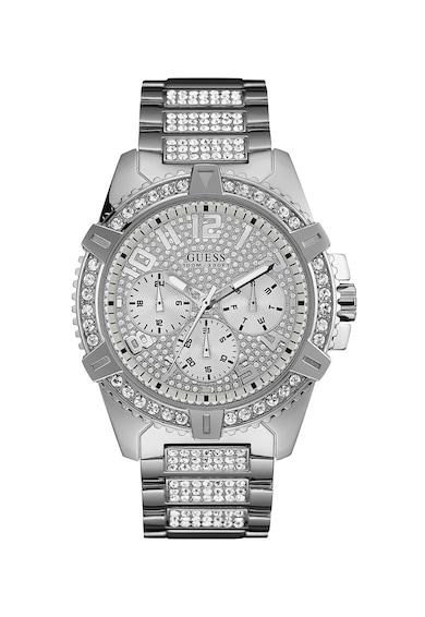 Guess Аналогов часовник с кристали , Сребрист Мъже