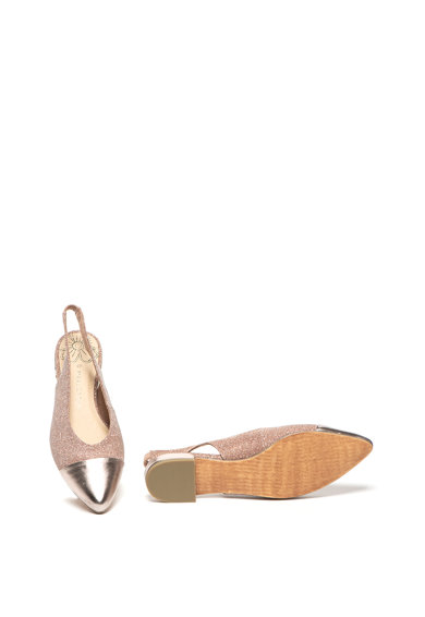 Marco Tozzi Pantofi slingback cu varf ascutit si insertii stralucitoare Femei