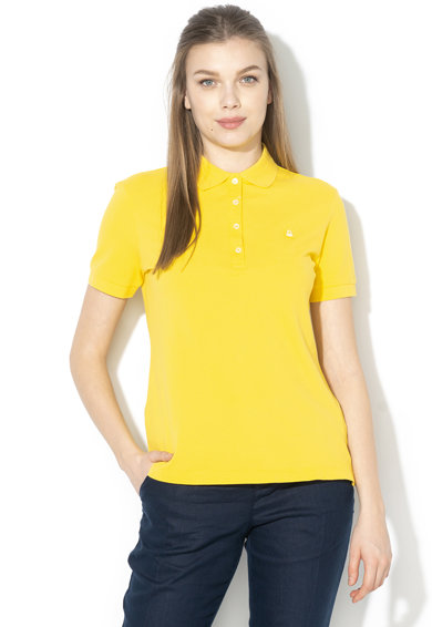 United Colors of Benetton Tricou polo din material pique Femei