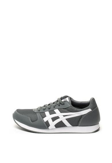 ASICS Tiger Pantofi sport de piele ecologica si plasa, cu detalii contrastante Curreo Barbati