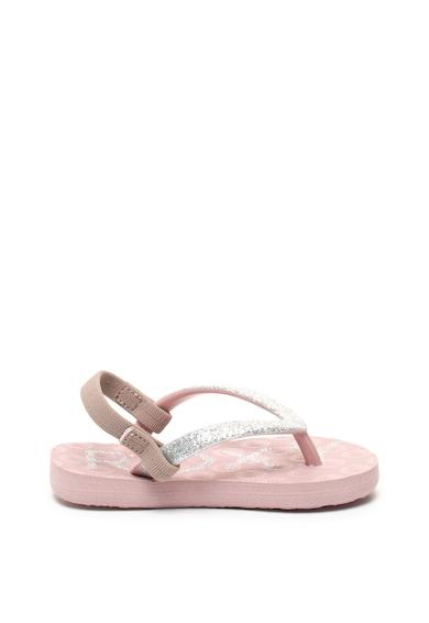 ROXY Papuci flip-flop cu bareta slingback Viva Glittery Baieti