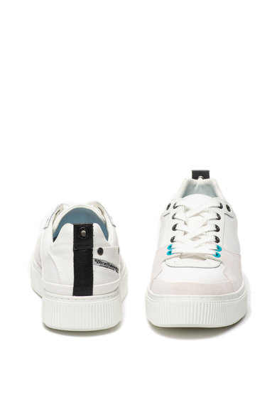 Diesel Pantofi sport de piele si panza Danny Barbati