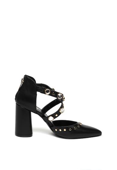 Liu Jo Kiomi bőrcipő strasszkövekkel női