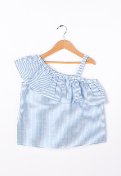 Blue Seven Раирана блуза с голо рамо Момичета