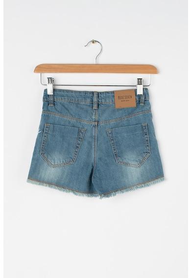Blue Seven Къс панталон от деним с незавършени краища Момичета