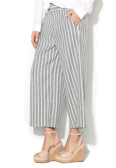 Banana Republic Pantaloni culotte din amestec de in, cu model in dungi Femei