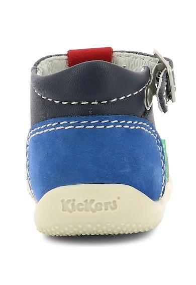 Kickers kids Pantofi de piele nabuc cu logo Fete