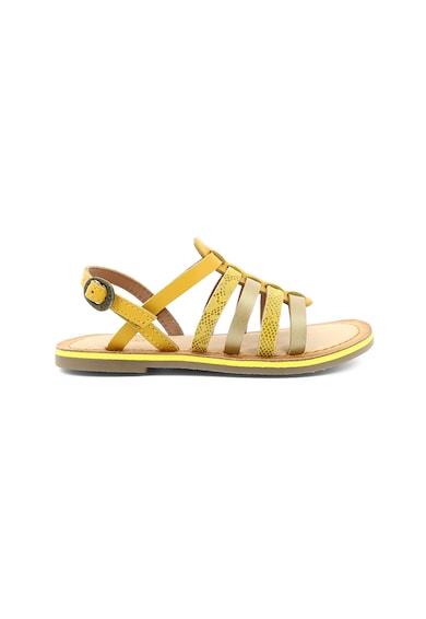 Kickers kids Sandale de piele cu detalii cu imprimeu sarpe Fete