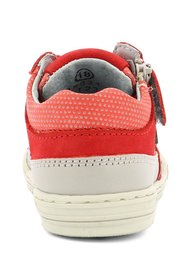 Kickers kids Pantofi sport de piele, cu detalii contrastante Fete
