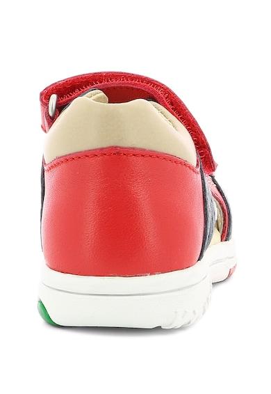 Kickers kids Sandale de piele cu inchidere velcro Fete