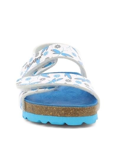 Kickers kids Sandale de piele ecologica, cu model cu libelule Fete