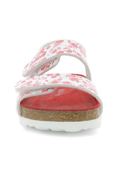 Kickers kids Sandale cu velcro si model floral Fete