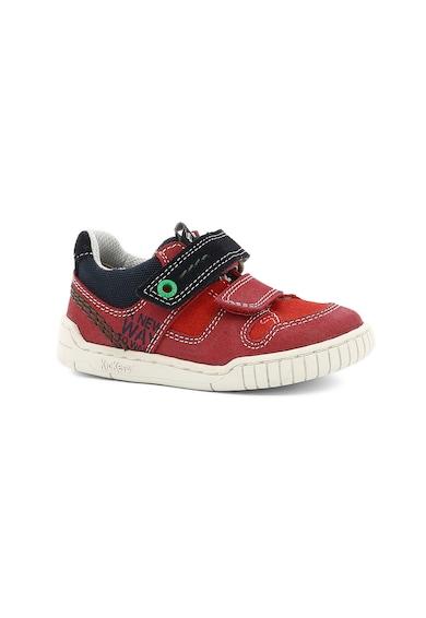 Kickers kids Спортни обувки от набук с детайли от велур Момичета