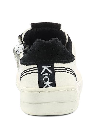 Kickers kids Кожени спортни обувки с перфорирано лого Момичета