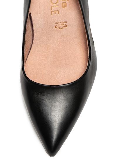 Tamaris Pantofi cu toc si varf ascutit de piele Femei