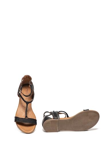 Tamaris Sandale de piele, cu amortizare si garnitura impletita Femei