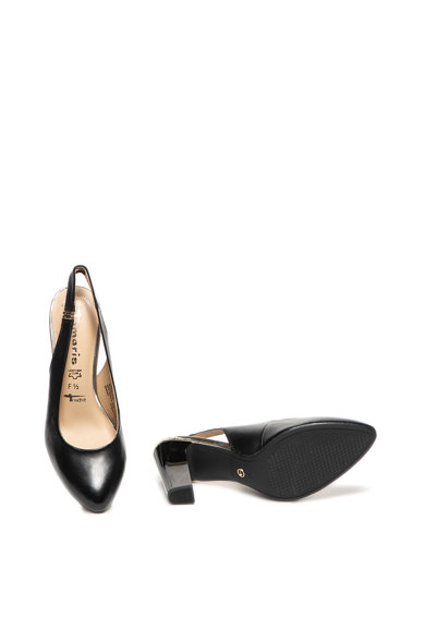 Tamaris Pantofi slingback de piele cu toc masiv Femei