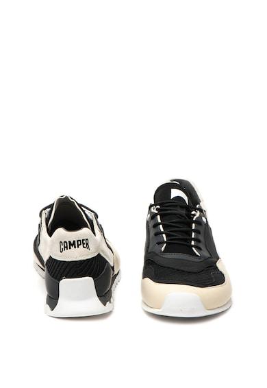 Camper Pantofi sport de piele cu insertii de material textil Nothing Barbati