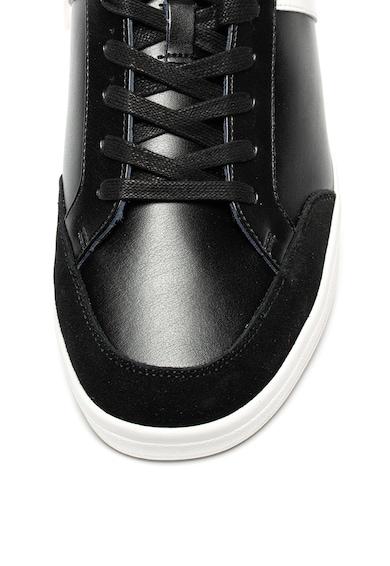 Versace Jeans Pantofi sport de piele si piele intoarsa Barbati