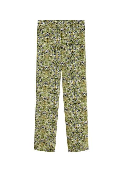Mango Pantaloni cu talie inalta si imprimeu floral Leonie Femei