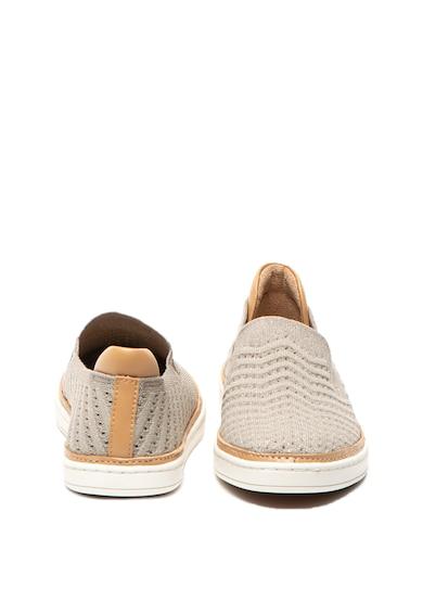 UGG Pantofi slip on de piele ecologica si plasa cu spect tricotat Sammy Femei