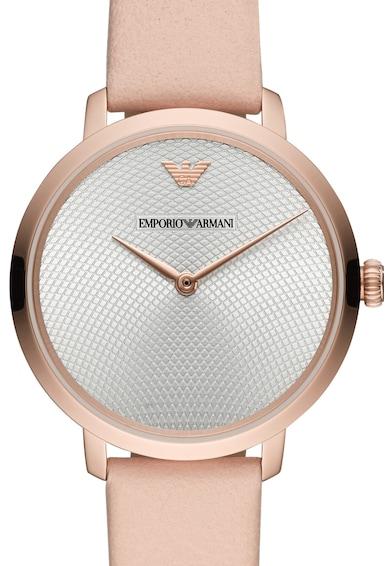 Emporio Armani Часовник Slim с кожена каишка Жени