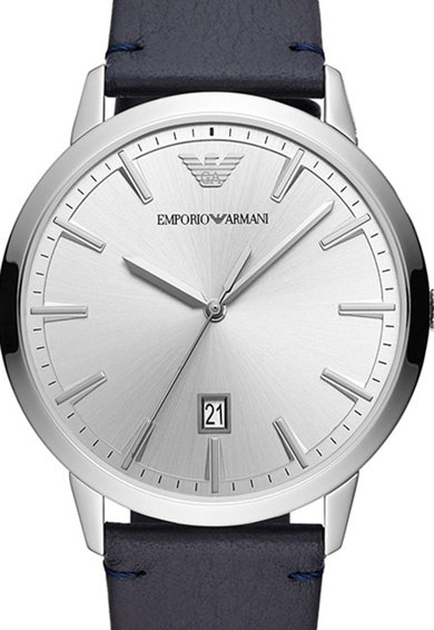 Emporio Armani Овален часовник Ruggero с кожена каишка Мъже