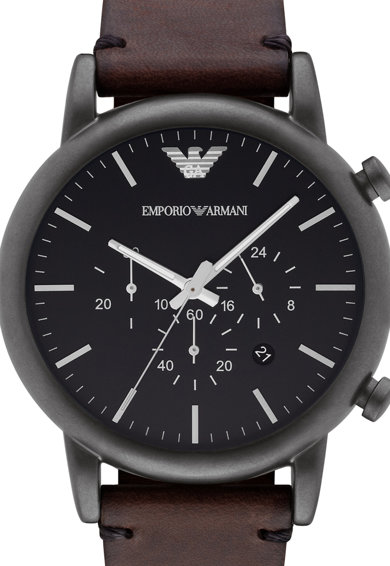 Emporio Armani Часовник Luigi с хронометър и кожена каишка Мъже