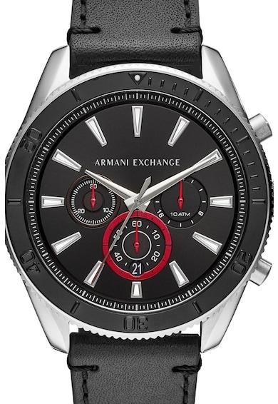 ARMANI EXCHANGE Часовник Enzo с хронометър и кожена каишка Мъже
