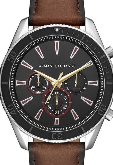armani exchange Ceas cronograf cu o curea de piele Enzo Barbati