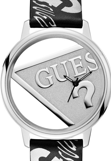 Guess Originals Uniszex bőrszíjas karóra logómintával női