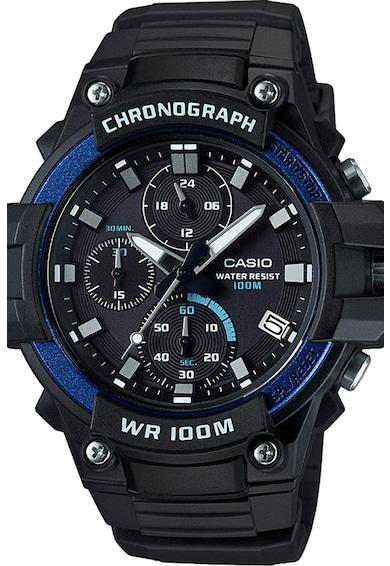 Casio Ceas cronograf cu subcadrane cu model guilloche Barbati